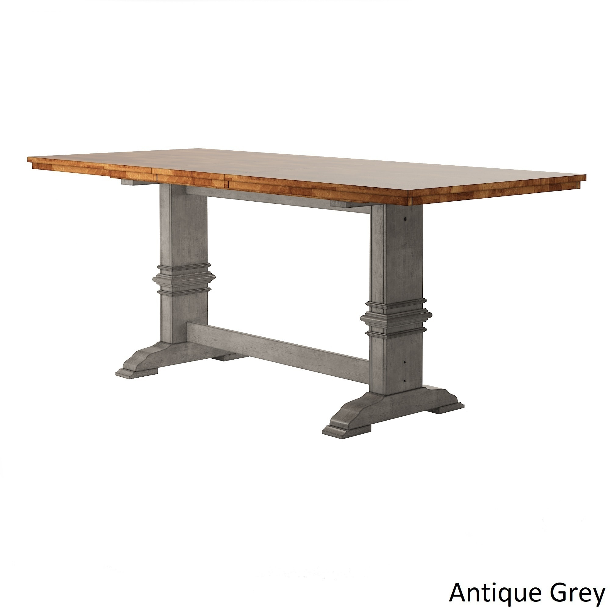 Eleanor Solid Wood Counter Height Trestle Base Dining Table Intended For Current Lucy Bar Height Dining Tables (Image 9 of 25)