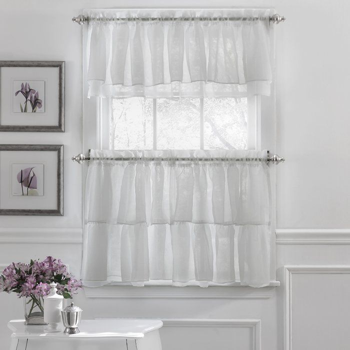 Featured Image of Elegant Crushed Voile Ruffle Window Curtain Pieces
