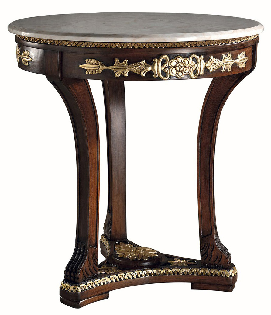 Elisa Wooden Hand Carved Pedestal Tablecoleccion With Recent Alexandra Round Marble Pedestal Dining Tables (Image 9 of 25)