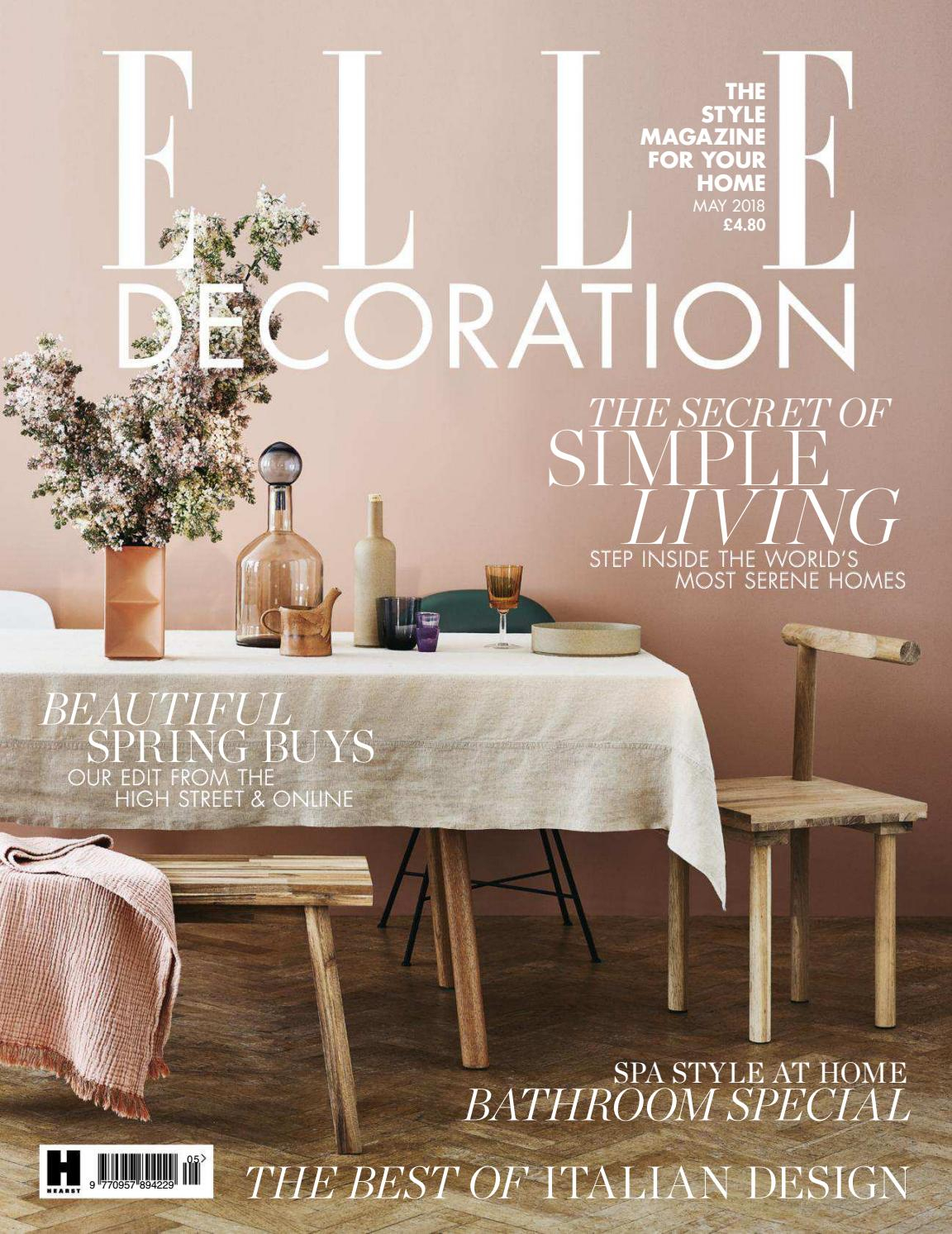 Elle Decoration – Uk (May 2018)Bruna Heckmann – Issuu Within Current Hearst Bar Tables (Image 9 of 25)