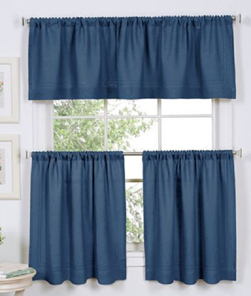 """Elrene Cameron Rod Pocket Kitchen Window Tier Pair 60""""w X 36 Within Hopscotch 24 Inch Tier Pairs In Neutral (Image 5 of 25)"""