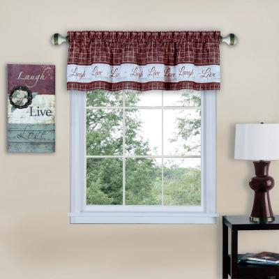 Elrene Linen Stripe Kitchen Tier Valance 38969Lin – The Home With Regard To Linen Stripe Rod Pocket Sheer Kitchen Tier Sets (View 22 of 25)