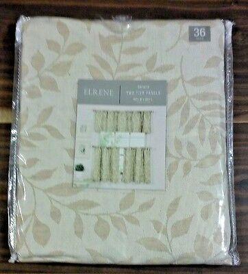 Elrene Serene Two Tier Rod Pocket Panels 60' X 30' Linen New Within Serene Rod Pocket Kitchen Tier Sets (View 21 of 25)