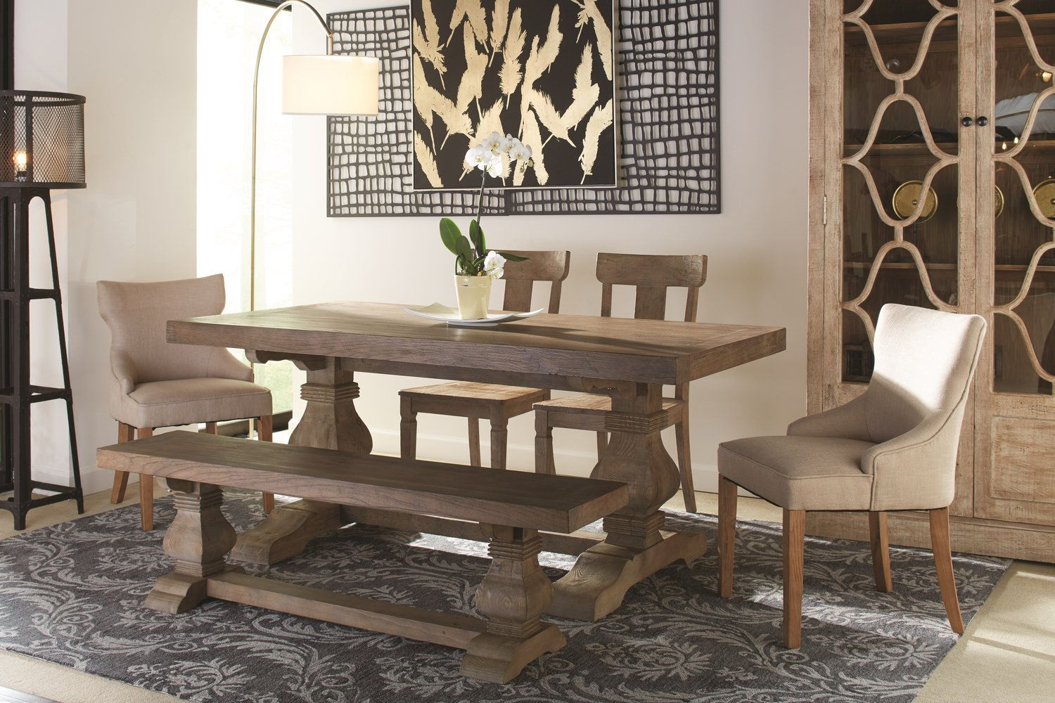 Emma Dining Table With 2 Lucy Chairs 2 Emma Chairs And Pertaining To Best And Newest Black Olive Hart Reclaimed Pedestal Extending Dining Tables (View 10 of 25)