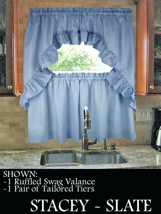 Enchanting Kitchen Window Valances And Swags Swag Curtain In Tailored Toppers With Valances (View 16 of 25)
