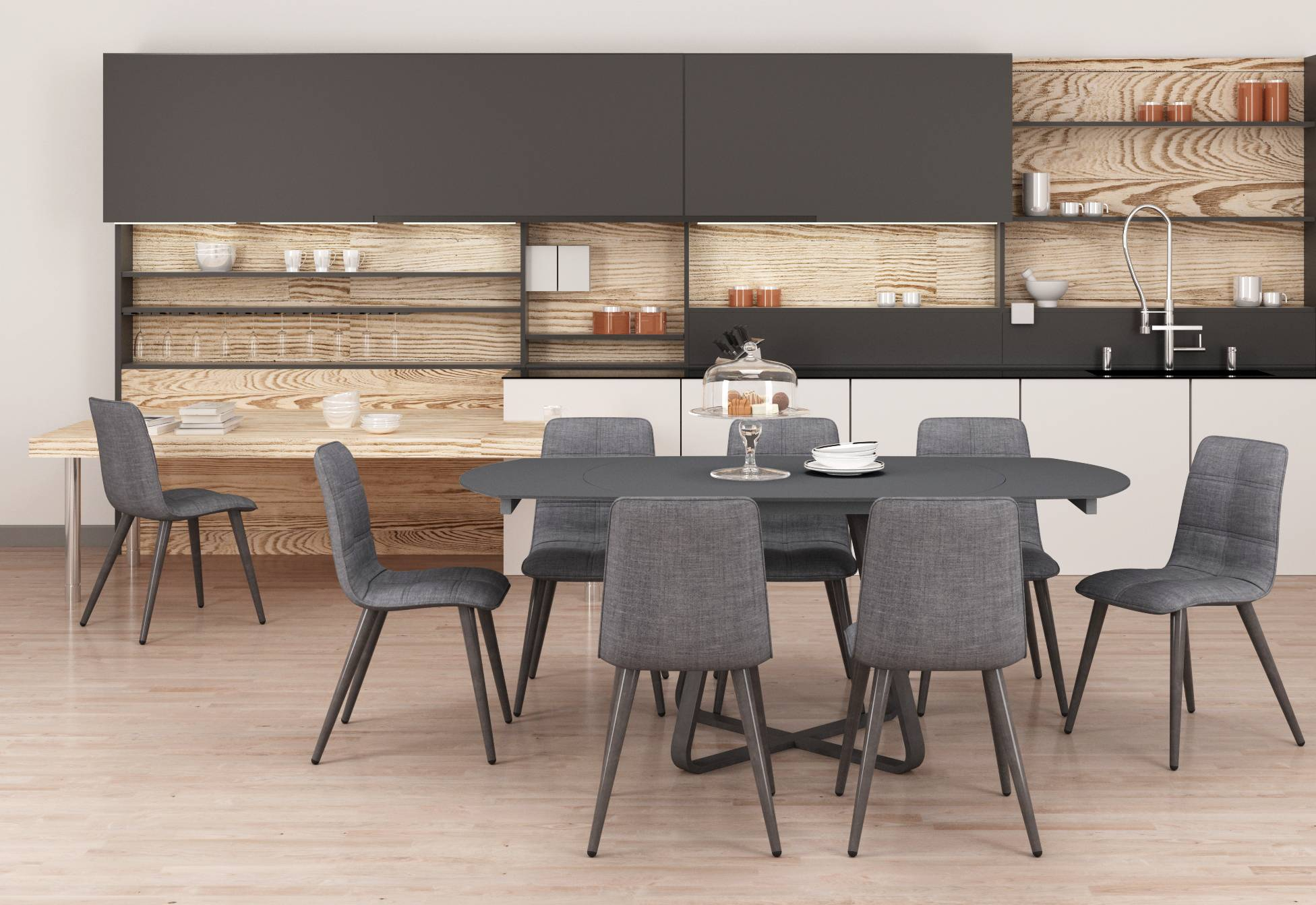 Esprit Extending Dining Table Regarding Most Popular Black Wash Banks Extending Dining Tables (View 16 of 25)