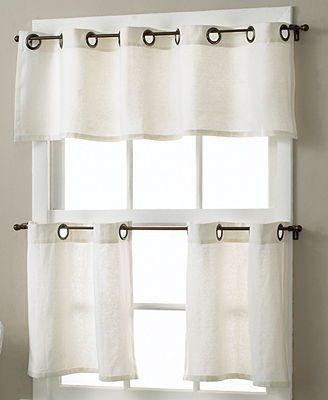 Essex Linen Grommet 30 X 36 Cafe Curtains Pair   Ideas For Regarding Modern Subtle Texture Solid White Kitchen Curtain Parts With Grommets Tier And Valance Options (View 9 of 25)