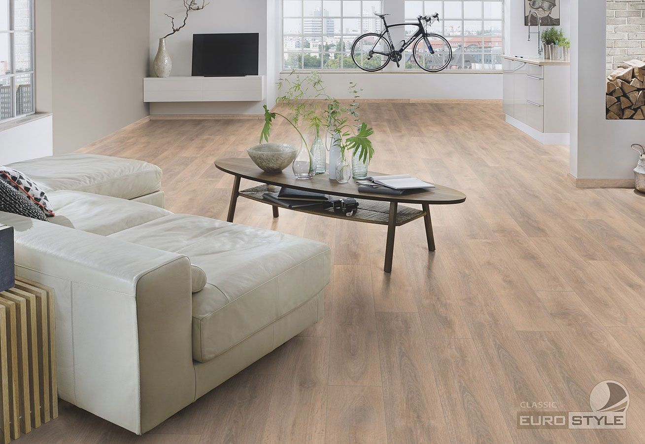 Eurostyle Blonde Oak Classic Laminate Flooring In 2019 With Regard To Best And Newest Shaw Dining Tables, Blonde Oak (View 3 of 25)