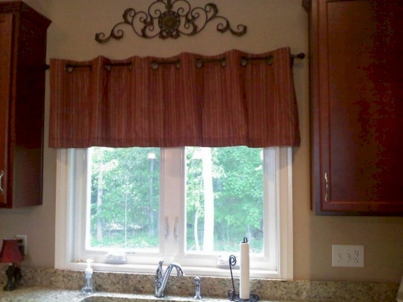 Excellent Rustic Kitchen Curtains Valances Inside Red Rustic Kitchen Curtains (View 24 of 25)