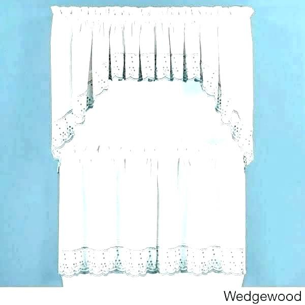 Exciting 5 Piece Kitchen Curtain Sets Kitchenaid Blender Throughout Cotton Lace 5 Piece Window Tier And Swag Sets (View 3 of 25)