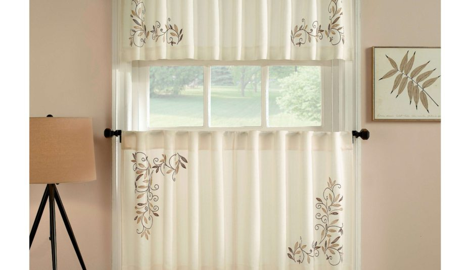 Exciting Window Curtains Designs Scroll Leaf Piece Curtain With Window Curtain Tier And Valance Sets (Image 15 of 25)