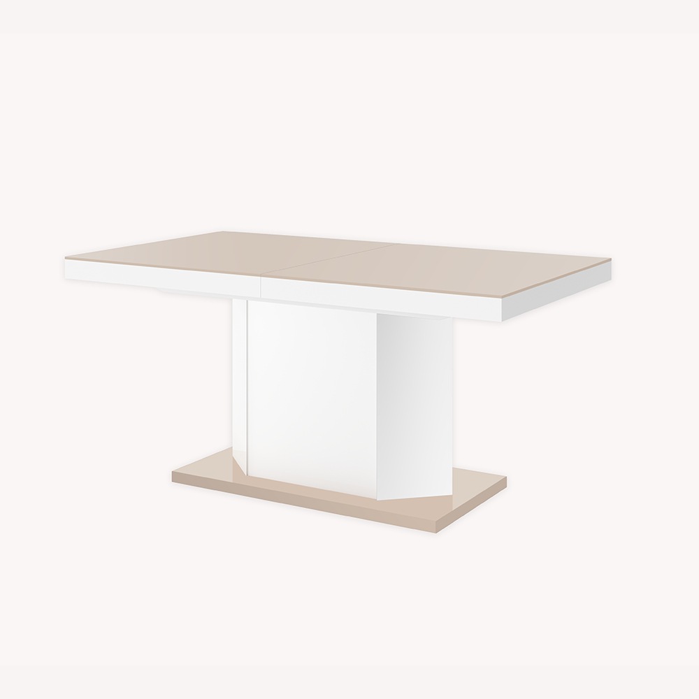 Extendable Dining Table – Windsor – Cappuccino & White High Gloss Throughout Latest Thalia Dining Tables (View 10 of 25)