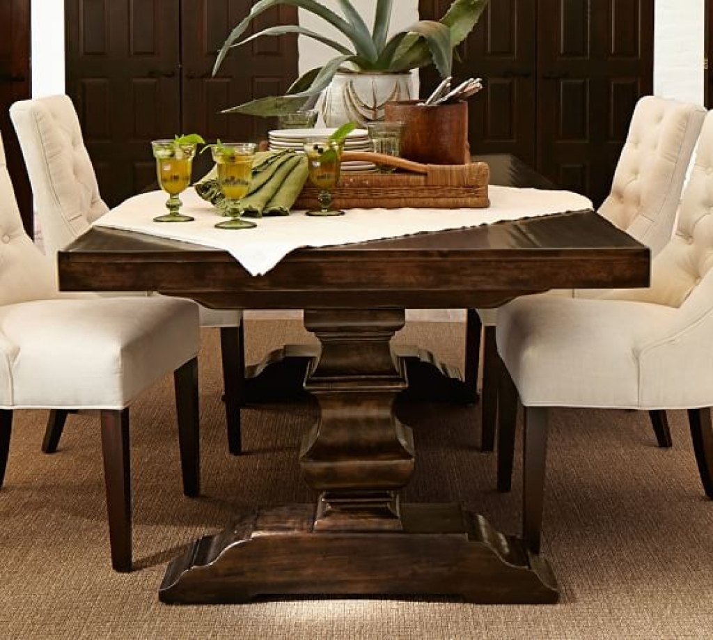 Extending Dining Room Sets Lorraine Table Hewn Oak With With Most Up To Date Hewn Oak Lorraine Extending Dining Tables (Image 7 of 25)