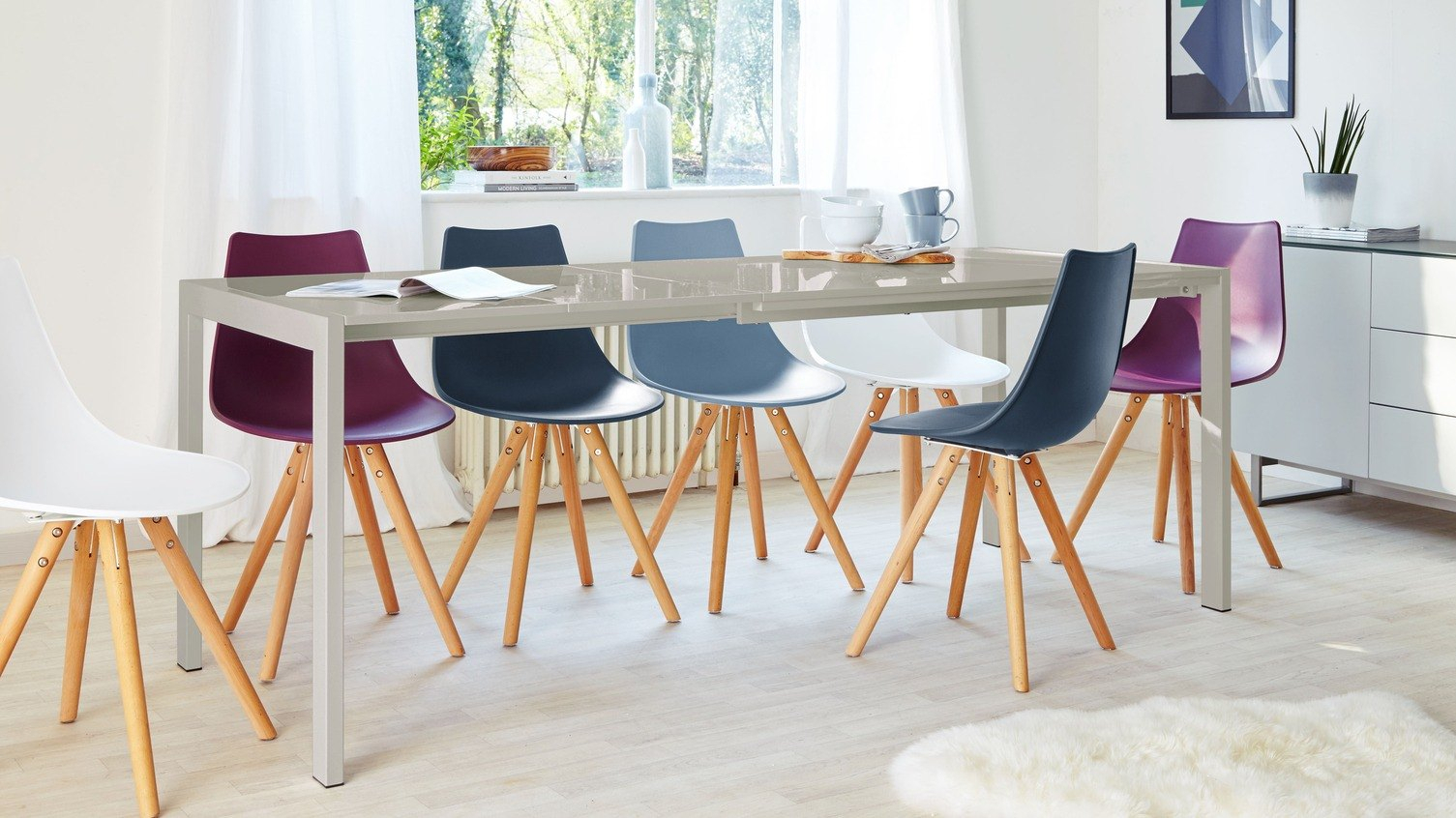 Extending Dining Tables | Danetti Lifestyle With Most Current Black Wash Banks Extending Dining Tables (View 17 of 25)