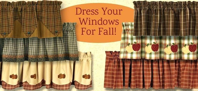 Fall Kitchen Curtains – 3Core (View 21 of 25)