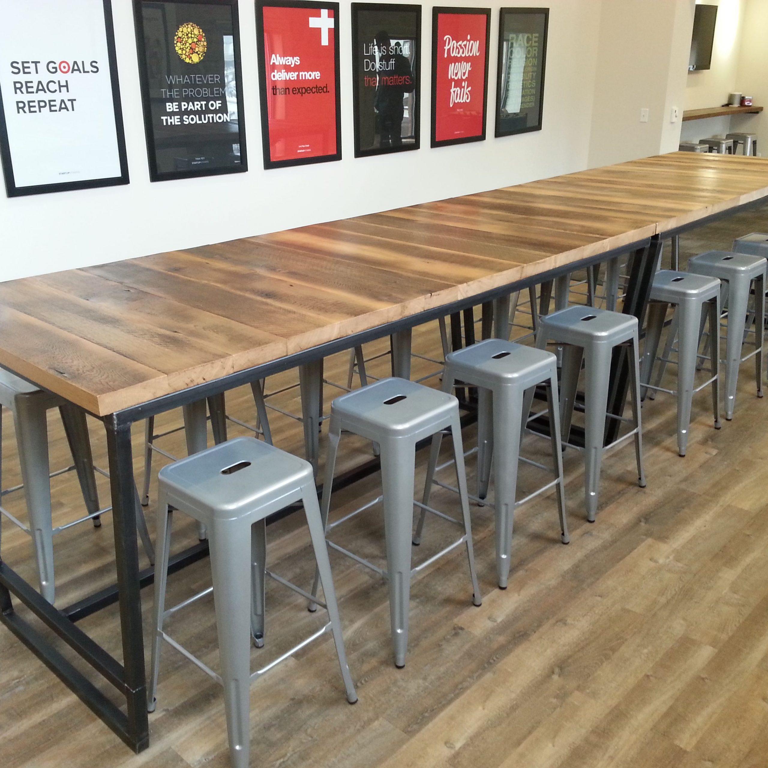 Famous Reclaimed Wood High Table #lv83 – Advancedmassagebysara Regarding 2018 Griffin Reclaimed Wood Bar Height Tables (View 22 of 25)