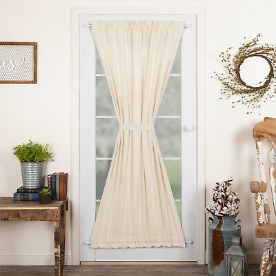 Farmhouse Curtains Simplicity Flax Door Panel Rod Pocket Cotton Linen Blend | Ebay With Regard To Rod Pocket Cotton Linen Blend Solid Color Flax Kitchen Curtains (View 6 of 25)