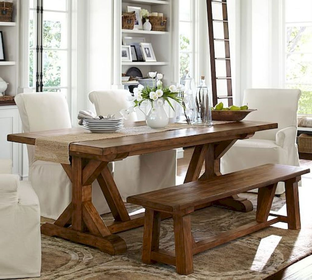 Farmhouse Dining Tables | Farmhouse Furniture | Dining Table Intended For Newest Brown Wash Livingston Extending Dining Tables (View 20 of 25)