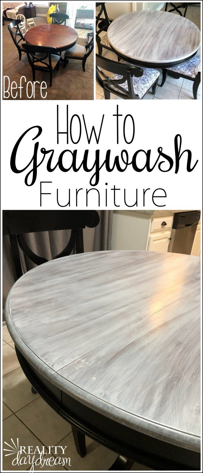Farmhouse Graywash Technique – Reality Daydream Inside Newest Gray Wash Benchwright Dining Tables (View 17 of 25)