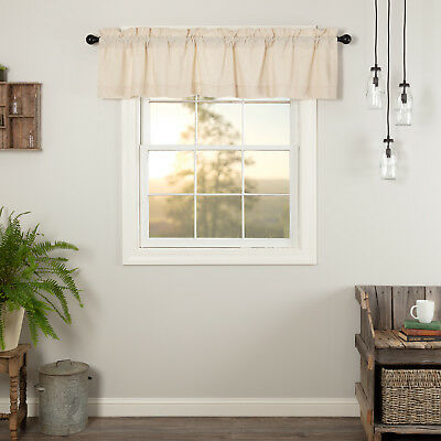Farmhouse Kitchen Curtains Simplicity Flax Valance Rod With Farmhouse Stripe Kitchen Tier Pairs (Image 13 of 25)