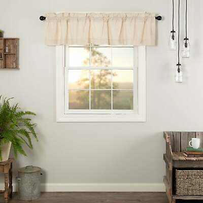 Farmhouse Kitchen Curtains Vhc Simple Life Flax Valance Rod | Ebay For Farmhouse Kitchen Curtains (View 6 of 25)