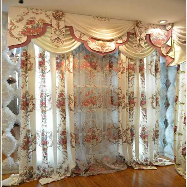 Fashionable White Floral Pattern Heavy Fabric Elegant Valance Curtain – Buy Elegant Valance Curtain,finished Elegant Valance Curtain,polyester Elegant Within Floral Pattern Window Valances (View 15 of 25)
