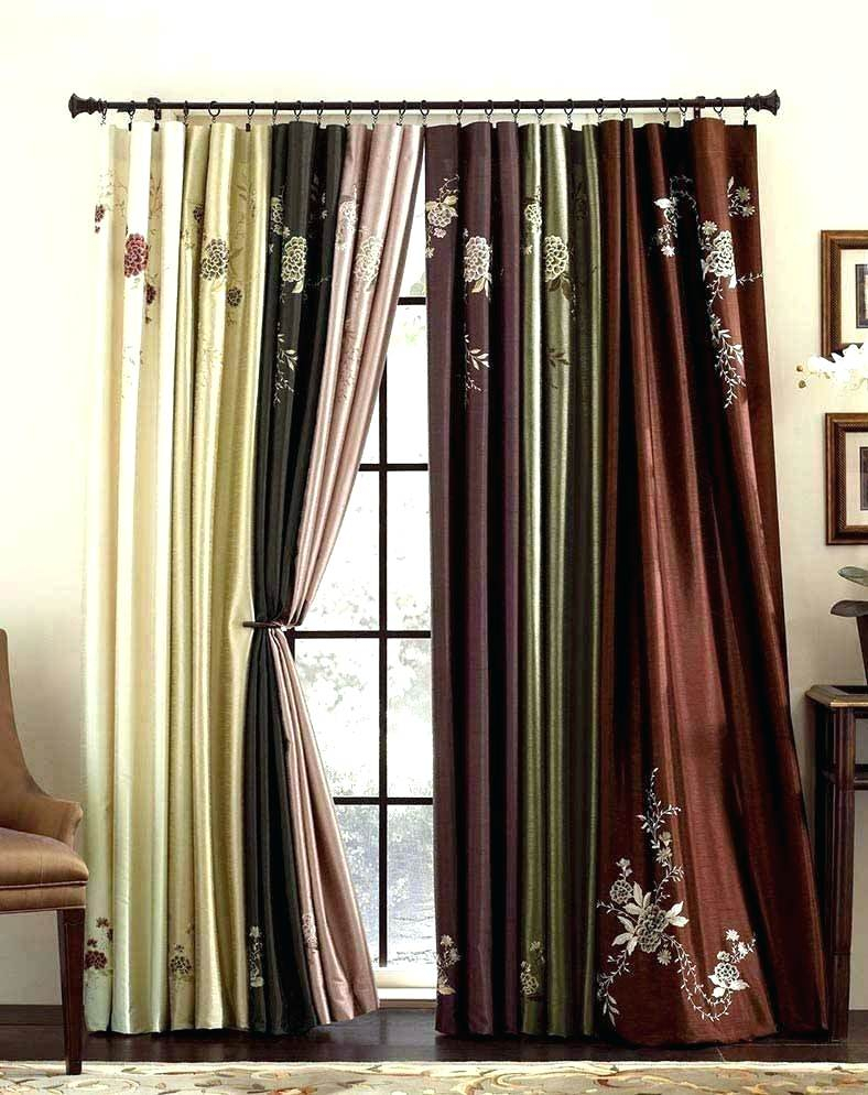 Faux Dupioni Silk Curtains – Panorax Pertaining To Floral Embroidered Faux Silk Kitchen Tiers (View 11 of 25)