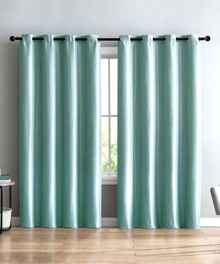 Faux Silk Blue Curtains – Christinaarza (View 18 of 25)