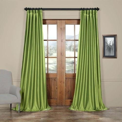 Faux Silk Drapes – Rocard Inside Floral Embroidered Faux Silk Kitchen Tiers (View 21 of 25)