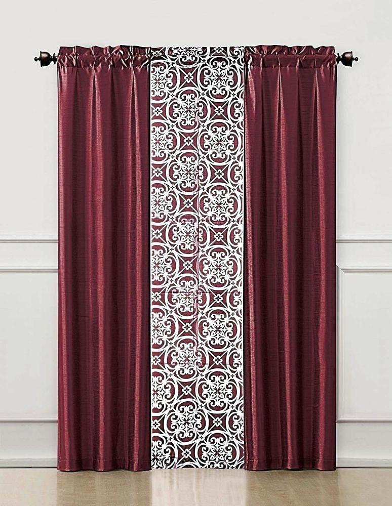 Faux Silk Drapes – Rocard Intended For Faux Silk 3 Piece Kitchen Curtain Sets (View 16 of 25)