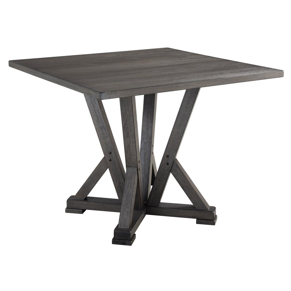 Fiji 1 Piece Harbor Gray Counter Height Dining Table With Regard To 2018 James Adjustables Height Extending Dining Tables (Image 5 of 25)