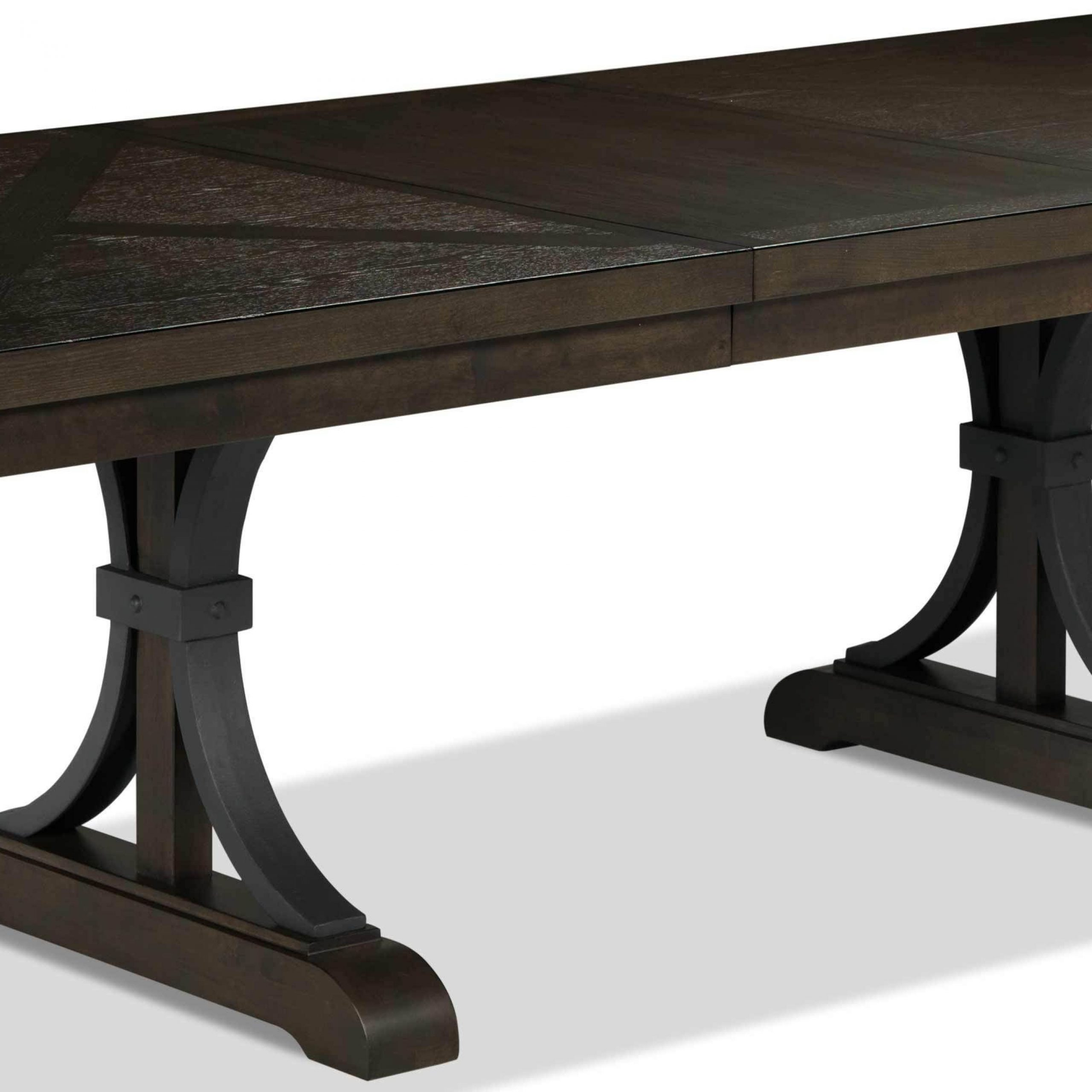 Flanigan 7 Piece Dining Set – Distressed Espresso In 2019 Inside Current Blackened Oak Benchwright Extending Dining Tables (View 5 of 25)