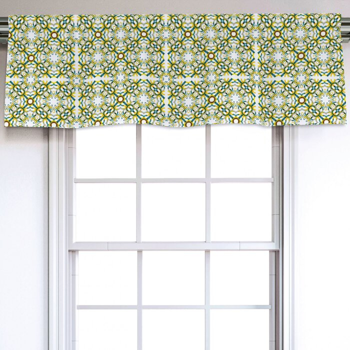 "Floral 54"" Window Valance With Regard To Floral Pattern Window Valances (View 10 of 25)"