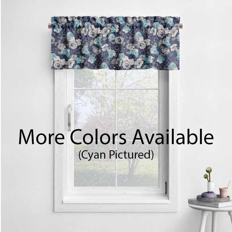 Floral – Scott Living Fabrics Botanic Collection – Window Valance With Floral Pattern Window Valances (View 11 of 25)