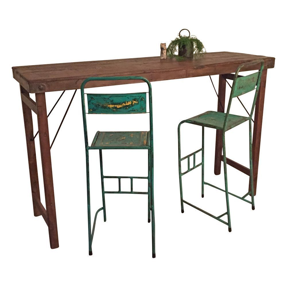 Folding Reclaimed Wood Bar Table | Products In 2019 | Wood Pertaining To Newest Griffin Reclaimed Wood Bar Height Tables (View 3 of 25)
