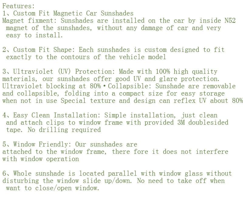 For Polo Bora&golf6&golf5&golf7&golf Sportsvan&gran Lavida Car Curtain  Black Magnetic Car Side Window Sunshade Mesh Shade Blind Side Window Shades  For Inside La Vida Window Curtains (Image 8 of 25)
