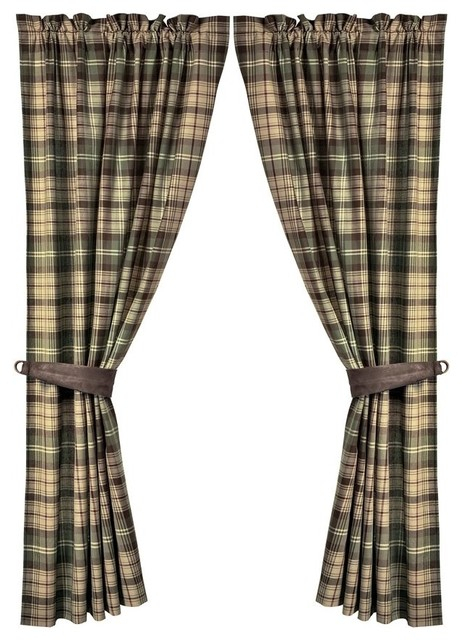 Forest Plaid Curtain Set Intended For Forest Valance And Tier Pair Curtains (View 23 of 25)