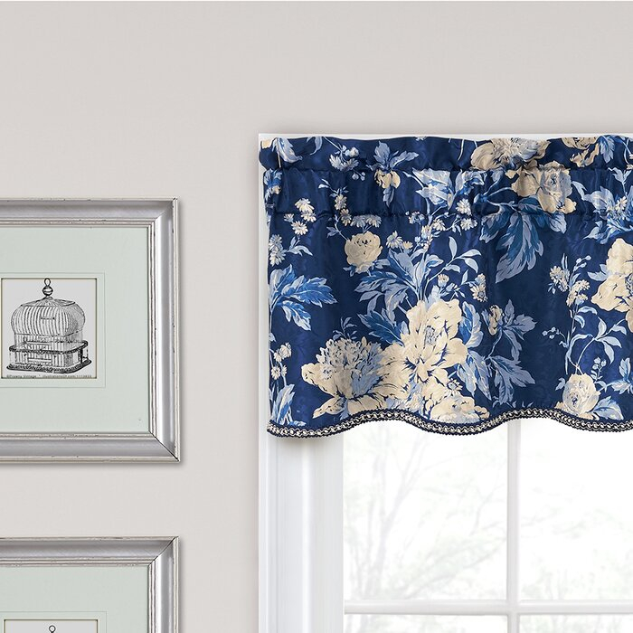 "Forever Yours Floral 52"" Curtain Window Valance Throughout Floral Pattern Window Valances (View 23 of 25)"