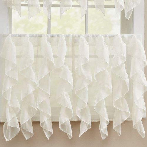 Found It At Wayfair – Chic Sheer Voile Vertical Ruffle With Regard To Vertical Ruffled Waterfall Valance And Curtain Tiers (View 3 of 25)