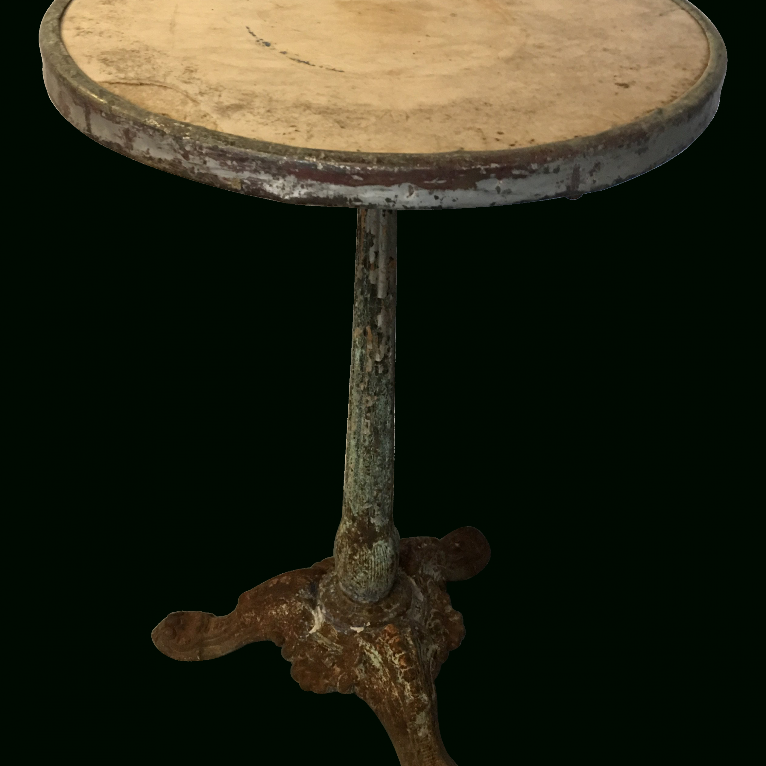 French Cast Iron And Marble Bistro Table | Furniture Pertaining To Newest Rae Round Marble Bistro Tables (View 6 of 25)