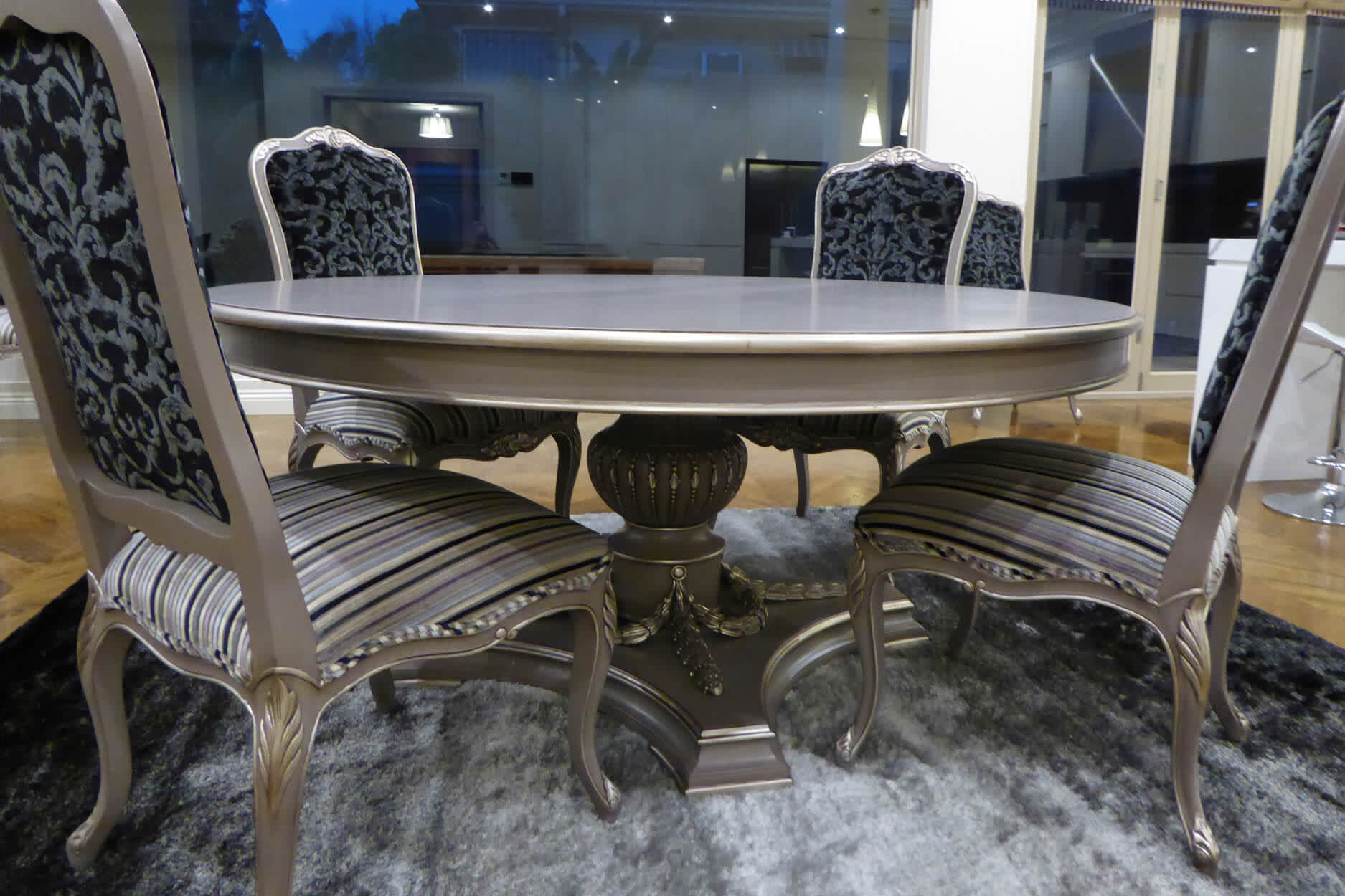 French Single Pedestal Dining Table | Mark Alexander Design For Most Recent Alexandra Round Marble Pedestal Dining Tables (View 25 of 25)