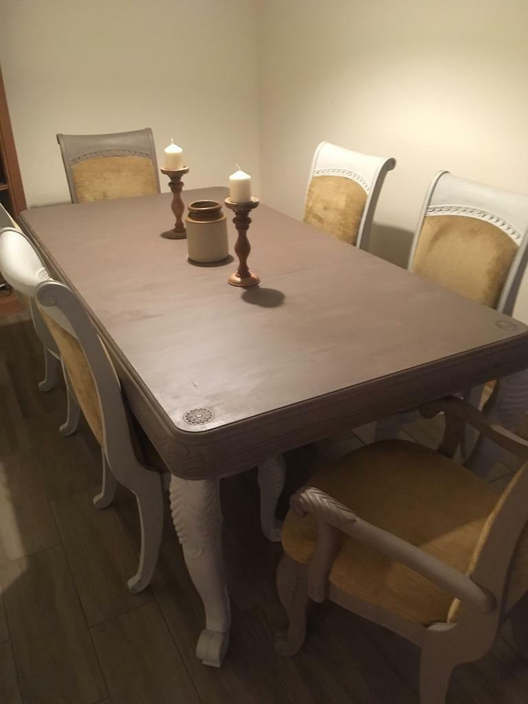French Style Dining Table | In Stone, Staffordshire | Gumtree In Recent Stafford Reclaimed Extending Dining Tables (View 20 of 25)