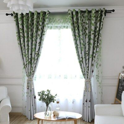 Fresh Forest Birds Sheers Hot Window Blackout Cloth Curtain New Bedroom 1 Piece   Ebay For Forest Valance And Tier Pair Curtains (View 19 of 25)