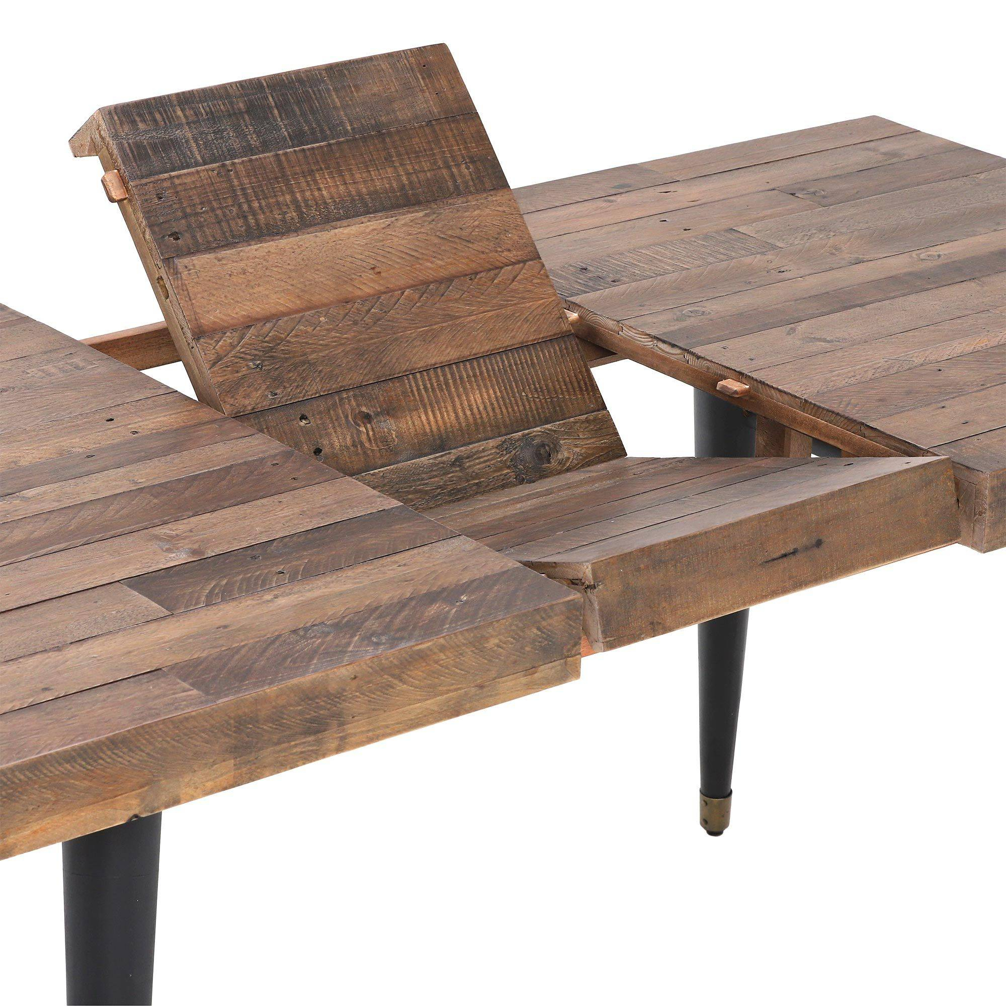 Furniture Dining Room Reclaimed Extending Table Wood With 2017 Hart Reclaimed Wood Extending Dining Tables (Image 10 of 25)