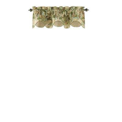 Garden Glory Scalloped Window Valance In Mist – 60 In. W X 16 In (View 12 of 25)