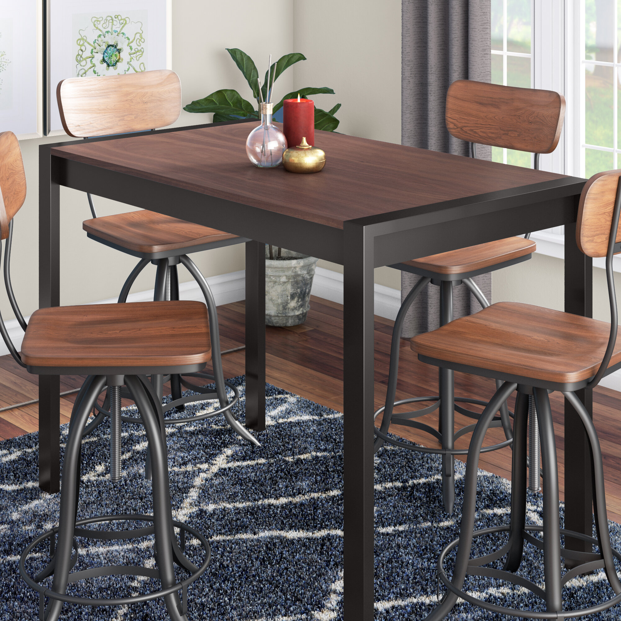 Gary Counter Height Solid Wood Dining Table Intended For Most Up To Date Bismark Dining Tables (View 8 of 25)