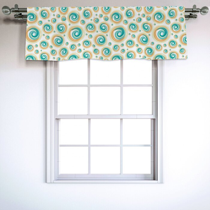 "Geometric Circle 54"" Window Valance For Circle Curtain Valances (View 25 of 25)"