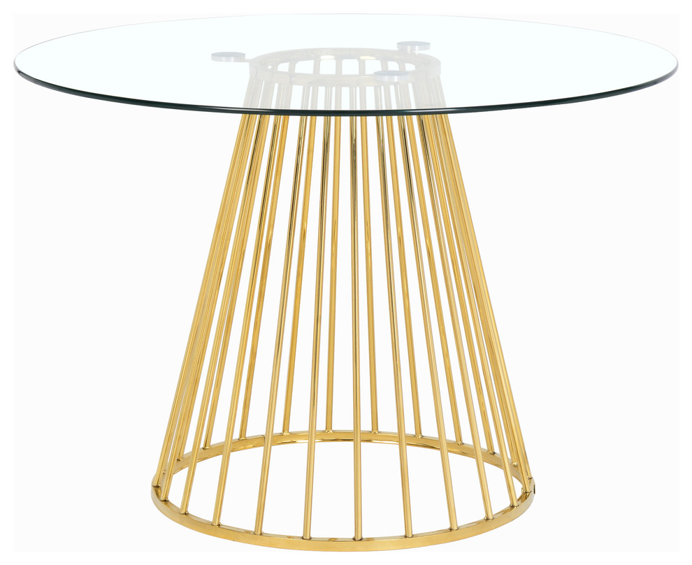 Gio Gold Dining Table, Gold Base In 2017 Aztec Round Pedestal Dining Tables (View 11 of 25)