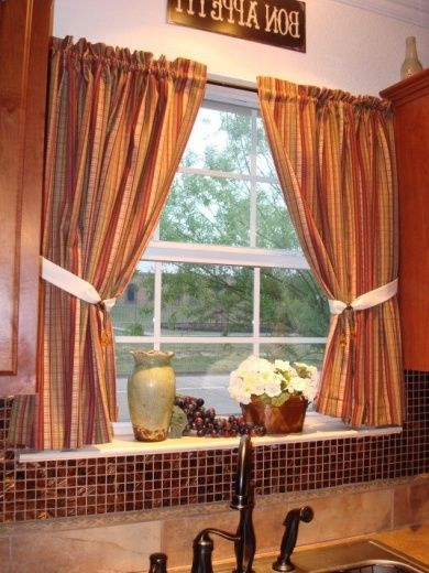 Glamours Tuscan #kitchen #curtains Tuscan Kitchen Curtains Regarding Luxurious Kitchen Curtains Tiers, Shade Or Valances (View 18 of 25)