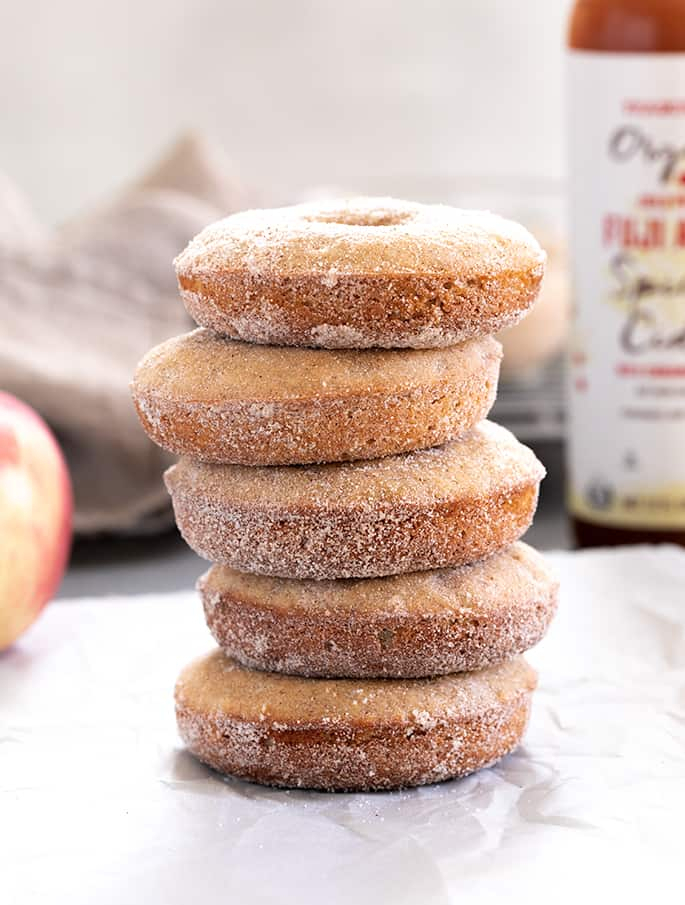 Gluten Free Apple Cider Donuts With Regard To Apple Orchard Printed Kitchen Tier Sets (View 25 of 25)